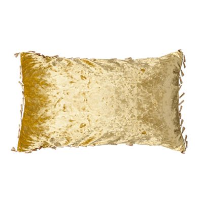 Chartreuse Oblong Crushed Velvet Cushion 12