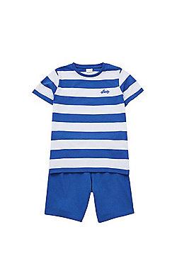 F&F Striped Shorts Pyjamas - Blue & White