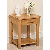 Oslo Solid Oak Lamp / Side Table