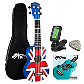 Union Jack Soprano Ukulele Kit Beginners Pack