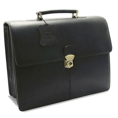 Monolith Leather Briefcase Black 3193