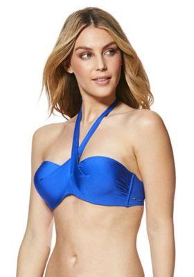 F&F Multiway Bikini Top Blue 36 C cup