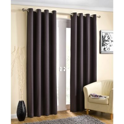 Enhanced Living Wetherby Charcoal Eyelet Curtains - 66x72 Inches (168x183cm)