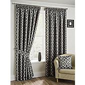 Orbital - Pewter - Pencil Pleat Curtains - Pewter
