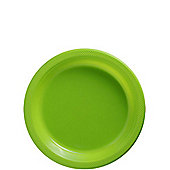 Lime Green Dessert Plates - 17cm Plastic Party Plates - 20 Pack