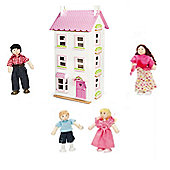 Le Toy Van Victoria Place and My Family of 4 Dolls