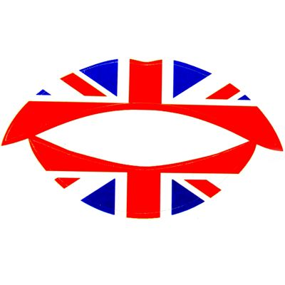 Union Jack Temporary Lip Tattoos