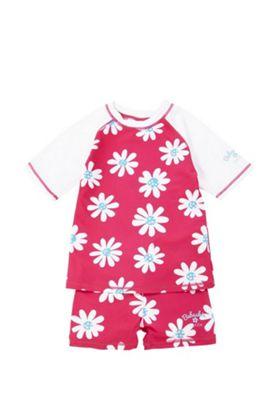 Babeskin Daisy Print UPF50+ Rash Top and Shorts Set Pink 13 years
