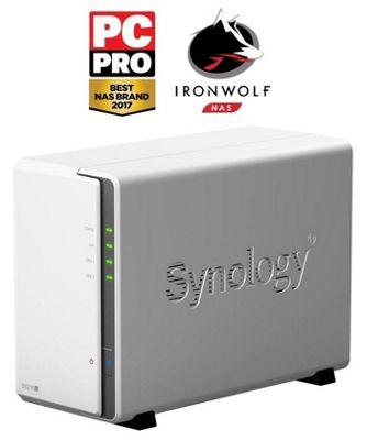 Synology DiskStation DS216j/6TB-IronWolf 2-Bay 6TB(2x3TB Seagate IronWolf) Desktop NAS Solution