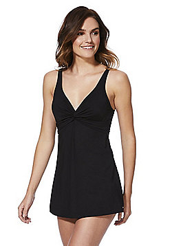F&F Shaping Swimwear Skirted Swimsuit - Black