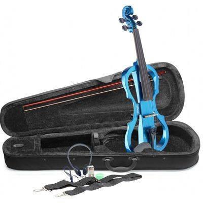 Stagg EVN X Electric Violin Outfit - Metallic Blue