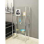 Contour 5-Tier Clear Glass Shelving Display Glass Unit
