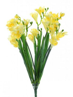 Artificial - Freesia Bush - Yellow
