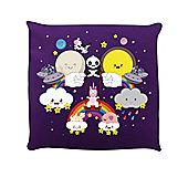 Rainbow Kingdom Purple Cushion 40x40cm