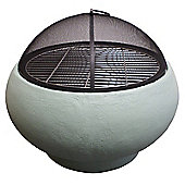 Fire Pit and BBQ in Stylish Duck Egg Blue includes BBQ Grill and Poker