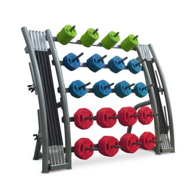Bodymax Studio Barbell Set Rack - 20 Set Capacity