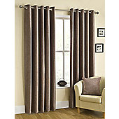 Puerto Ready Made Eyelet Curtains Brown 90x54 Inches
