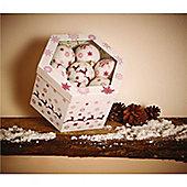 Gardman 14 Sparkling Christmas Baubles & Box - Purple & White