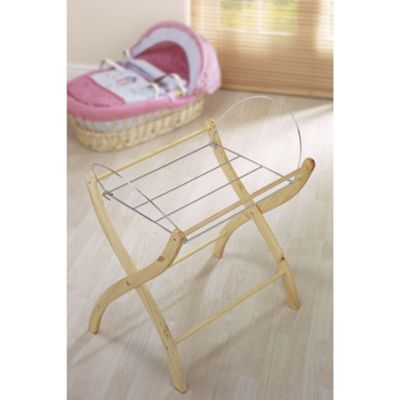 Izziwotnot Wicker Moses Basket Stand in Natural