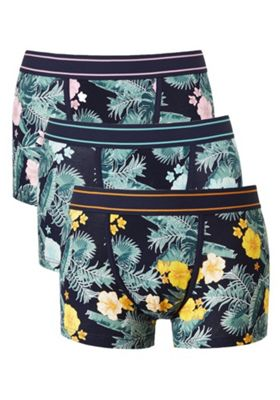 F&F 3 Pack of Hibiscus Flower Hipsters with As New Technology Multi M
