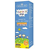 Natures Aid Vitamin D3 200iu Drops for infants & children - 50ml