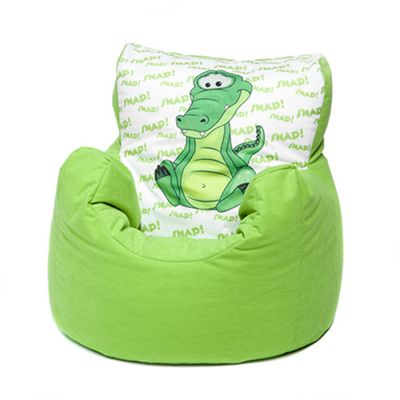 Green Crocodile Children's Character Micro Suede Bean Bag Chair