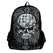 Banned Gothic Skull Black Backpack