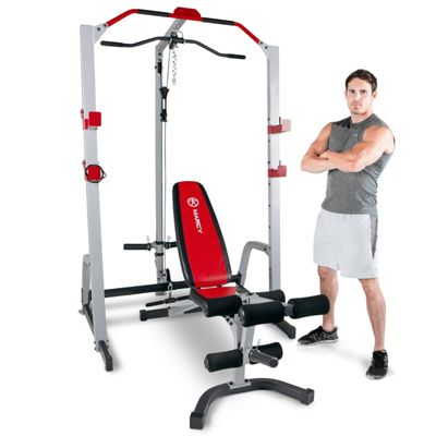 Marcy MD-8851R Deluxe Power Rack Home Gym & Weight Bench