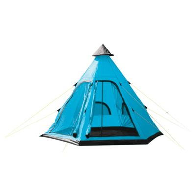 Yellowstone 4 Man Tipi Tent Blue. Buy from Tesco  sc 1 st  Tesco & Buy Yellowstone 4 Man Tipi Tent Blue from our Family Tents range ...