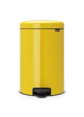 Brabantia newIcon Pedal Bin, 20L, Daisy Yellow