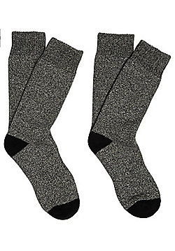 F&F Active 2 Pair Pack of Performance Blister Resist Socks - Grey