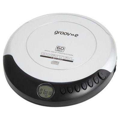 Groov-e Portable CD Player, Silver