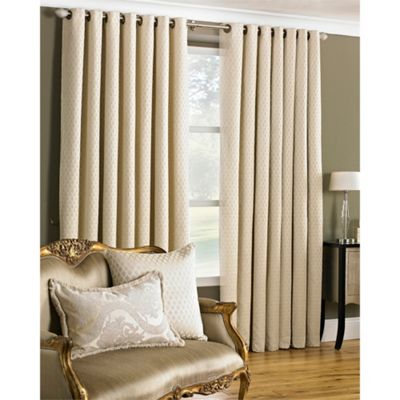Riva Home Devere Cream Eyelet Curtains - 66x72 Inches (168x183cm)
