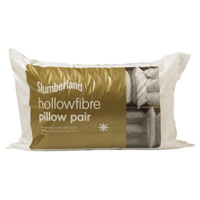 Slumberland Polycotton Hollowfibre Pillow pair