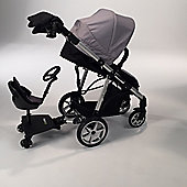 Mee-go Pramette Travel System with Rider Board - Grey