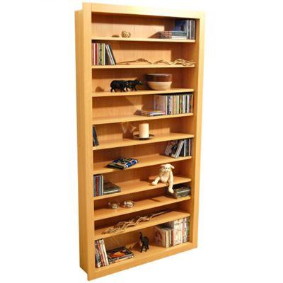 Techstyle Large CD / DVD / Video Storage Shelves - Beech