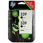 HP 339 2-pack Black Original Ink Cartridges
