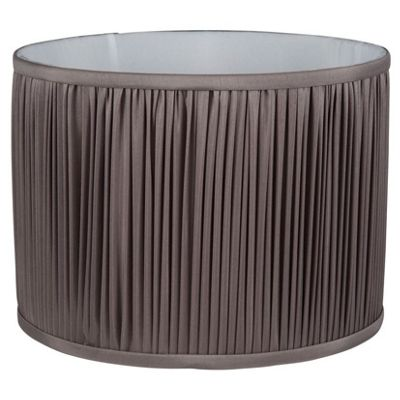 35cm Faux Silk Grey Mushroom Pleat Cylinder Shade
