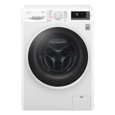 LG F4J6TY0WW, 8kg Spa Steam Washing Machine, 1400rpm - White