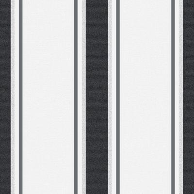 Superfresco Orla Stripe Metallic Textured Grey/Silver Wallpaper