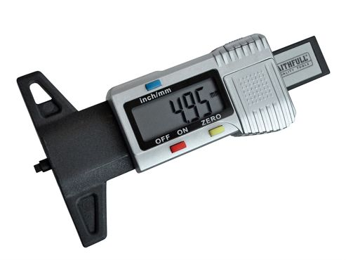 Faithfull Tyre Depth Gauge Digital Readout 0-25mm