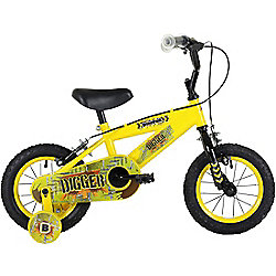 "Bumper Digger 12"" Pavement Bike Yellow/Black"