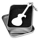Tiger Guitar Bottle Opener Keyring - Guitar Keychain