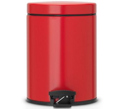 Brabantia Silent 5L Passion Red Pedal Bin