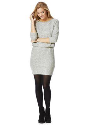 Only Marl Elasticated Waist Jumper Dress S Grey