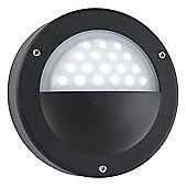 Led outdoor wall light black - white led finish