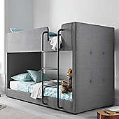 Happy Beds Saturn Fabric Kids Bunk Bed - Grey - 3ft Single