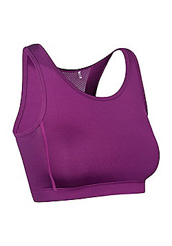 Womens Active Running Walking Aerobics Gym Sports Bra - Purple
