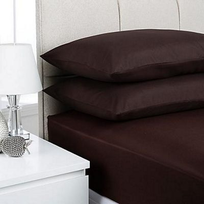 Fusion Chocolate Fitted Sheet Single
