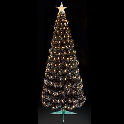Premier 5ft Fibre Optic Multi-Action Slim Black Christmas Tree